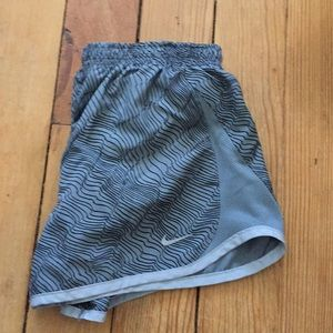 Grey Stripped Nike Athletic Shorts